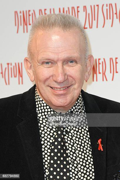 JeanPaul Gaultier attends the Sidaction Gala Dinner 2017 as part of Paris Fashion Week on January 26 2017 in Paris France
