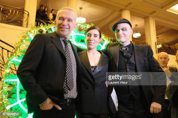 JeanPaul Gaultier Bianca Li and Ali Mahdavi attends 22nd Edition of 'Les Sapins de Noel des Createurs' at Theatre des Champs Elysees on November 17...