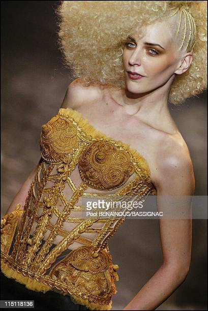 Jean-Paul Gaultier, Haute Couture Spring-Summer 2005 Fashion Show in Paris, France on January 26, 2005.
