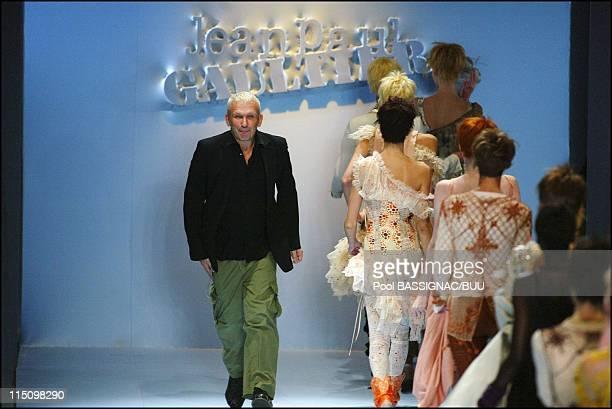 JeanPaul Gaultier springsummer 2004 readytowear collection in Paris France on October 10 2003 Designer JeanPaul Gaultier