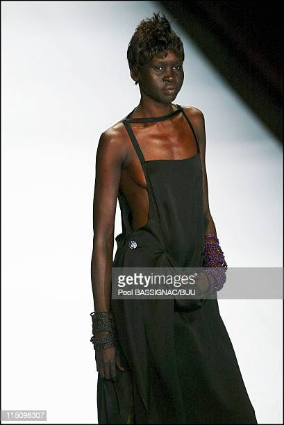 Jean-Paul Gaultier spring-summer 2004 ready-to-wear collection in Paris, France on October 10, 2003.