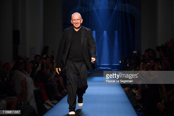 JeanPaul Gaultier walks the runway during the Jean Paul Gaultier Haute Couture Fall/Winter 2019 2020 show as part of Paris Fashion Week on July 03...