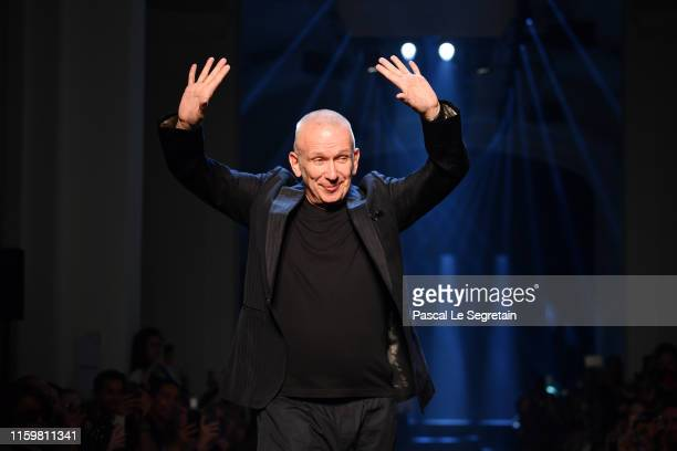 Jean-Paul Gaultier walks the runway during the Jean Paul Gaultier Haute Couture Fall/Winter 2019 2020 show as part of Paris Fashion Week on July 03,...