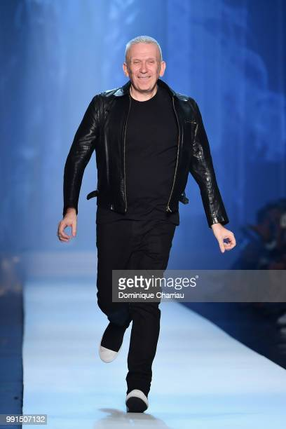 JeanPaul Gaultier walks the runway during the JeanPaul Gaultier Haute Couture Fall/Winter 20182019 show as part of Haute Couture Paris Fashion Week...