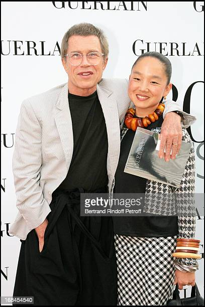JeanPaul Goude and his wife Karen at Guerlain Celebrates Its 180th Anniversary With The Launch Of New Men's Fragrance At Rodin Museum