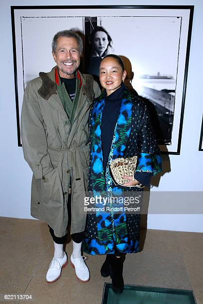 JeanPaul Goude and his wife Karen Park Goude attend the Carla Sozzani Photo Exhibition at Azzedine Alaia Gallery on November 9 2016 in Paris France