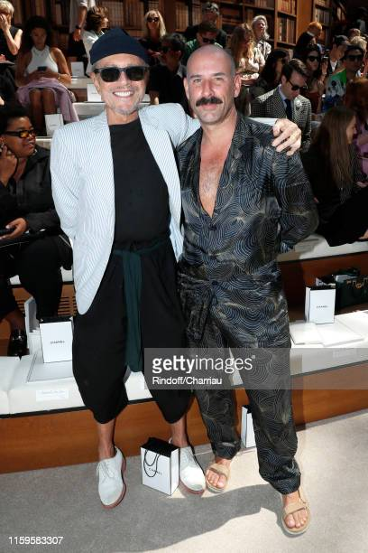 Jean-Paul Goude and Ryan Heffington attend the Chanel Haute Couture Fall/Winter 2019 2020 show as part of Paris Fashion Week on July 02, 2019 in...
