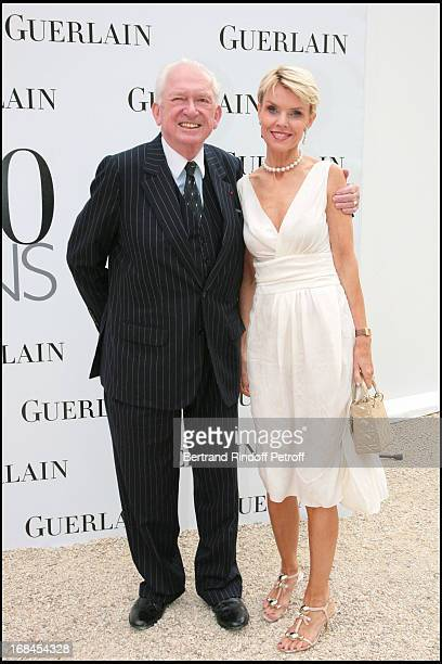 Jean-Paul Guerlain and Christina de Kragh at Guerlain Celebrates Its 180th Anniversary With The Launch Of New Men's Fragrance At Rodin Museum.