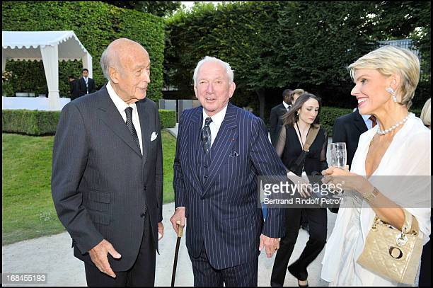 Jean-Paul Guerlain, his companion Christina de Kragh and Valery Giscard D'Estaing at Guerlain Celebrates Its 180th Anniversary With The Launch Of New...