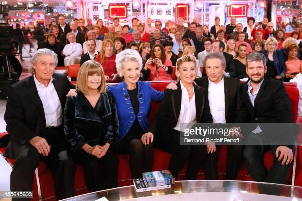 JeanPaul Moureau Chantal Goya Daniele Gilbert Sheila Michel Drucker and Gregoire Boissenot attend 'Vivement Dimanche' French TV Show at Pavillon...