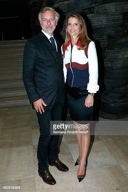 JeanPaul Mulot and Felicite Herzog attend the Friend's of Palais De Tokyo's Dinner Held at Palais De Tokyo on May 20 2014 in Paris France
