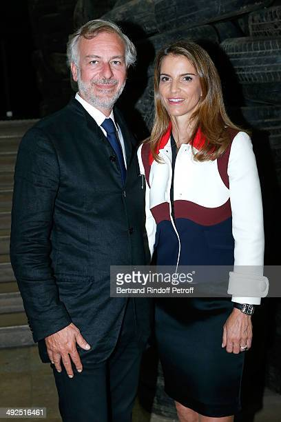 Jean-Paul Mulot and Felicite Herzog attend the Friend's of Palais De Tokyo's Dinner. Held at Palais De Tokyo on May 20, 2014 in Paris, France.