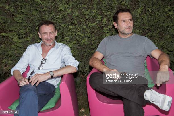 JeanPaul Rouve and Gilles Lellouche attend the 10th Angouleme FrenchSpeaking Film Festival on August 26 2017 in Angouleme France