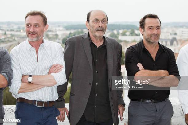 JeanPaul Rouve JeanPierre Bacri and Gilles Lellouche attend the 10th Angouleme FrenchSpeaking Film Festival on August 26 2017 in Angouleme France