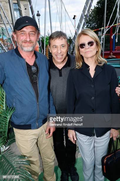 JeanPaul Rouve LouisMichel Colla and Nicole Garcia attend the Fete Des Tuileries on June 22 2018 in Paris France