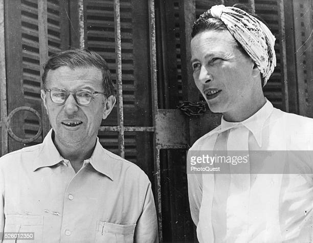 JeanPaul Sartre and Simone de Beauvoir Dakar Senegal April 1950