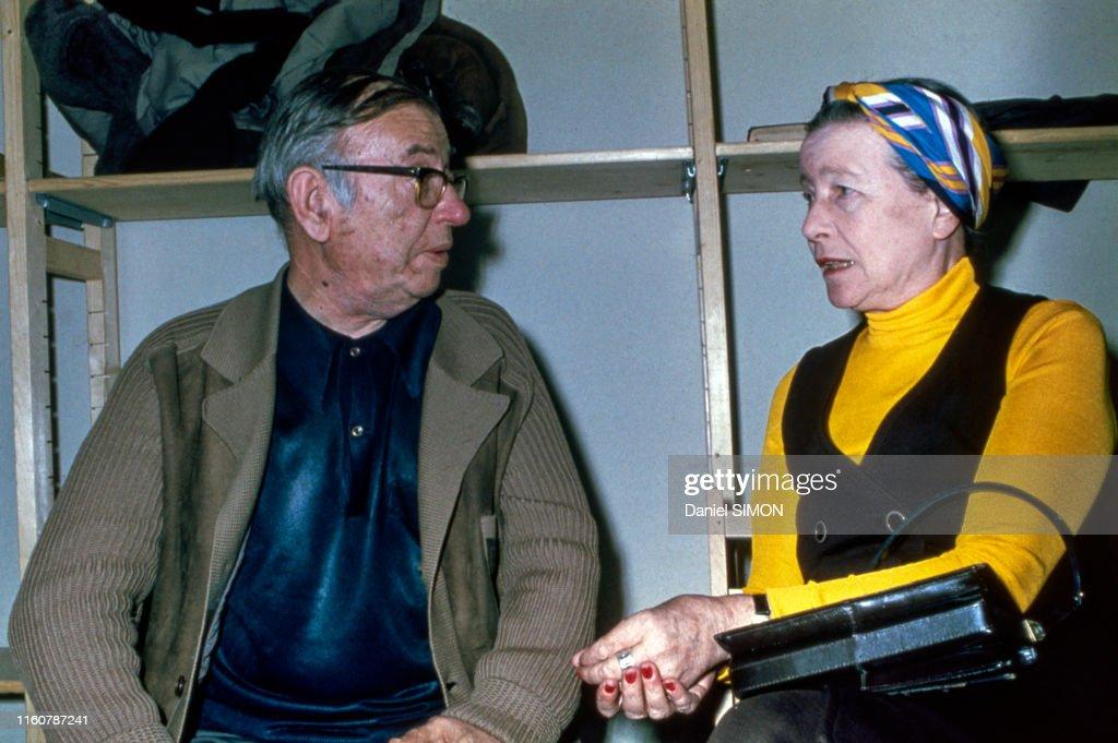 Jean-Paul Sartre et Simone de Beauvoir : Fotografía de noticias