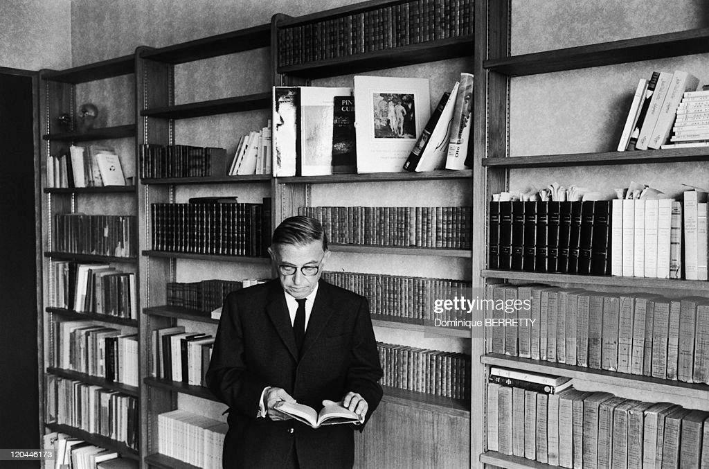 Jean-Paul Sartre In 1966 - : News Photo