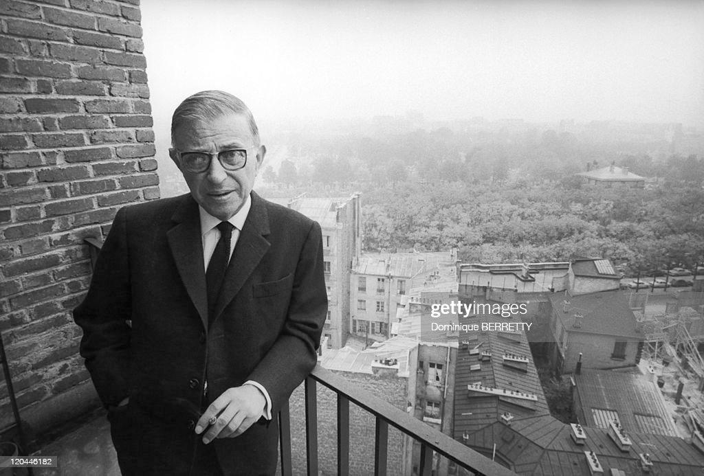 Jean-Paul Sartre In Paris, France In 1966 - : News Photo