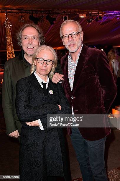 JeanPaul Scarpitta Dominique Issermann and Actor Pascal Greggory attend the Kenzo Takada's 50 Years Of Life in Paris Celebration at Restaurant Le Pre...