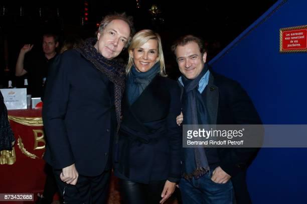 JeanPaul Scarpitta journalist Laurence Ferrari and her companion violonist Renaud Capucon attend 'Depardieu Chante Barbara' at 'Le Cirque D'Hiver' on...