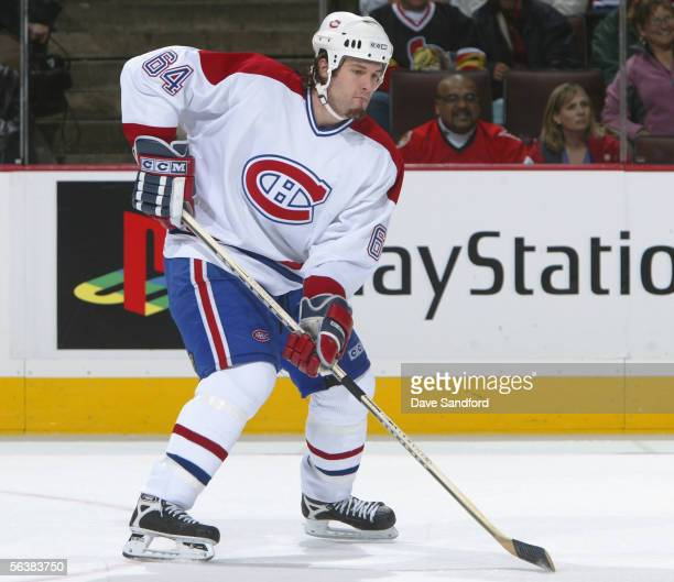 JeanPhilippe Cote of the Montreal Canadiens skates against the Ottawa Senators during the NHL game at the Corel Centre November 29 2005 in Kanata...