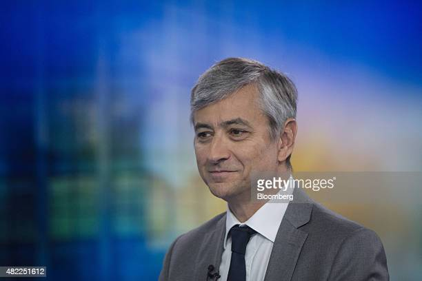 JeanPhilippe Courtois president of Microsoft International pauses during a Bloomberg Television interview in London UK on Wednesday July 29 2015 The...