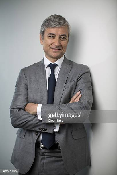 JeanPhilippe Courtois president of Microsoft International poses for a photograph after a Bloomberg Television interview in London UK on Wednesday...