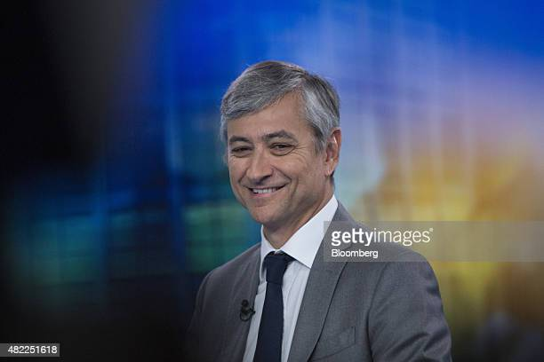 JeanPhilippe Courtois president of Microsoft International reacts during a Bloomberg Television interview in London UK on Wednesday July 29 2015 The...
