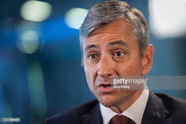 JeanPhilippe Courtois president of Microsoft International speaks during a Bloomberg Television interview in London UK on Wednesday Sept 5 2012...