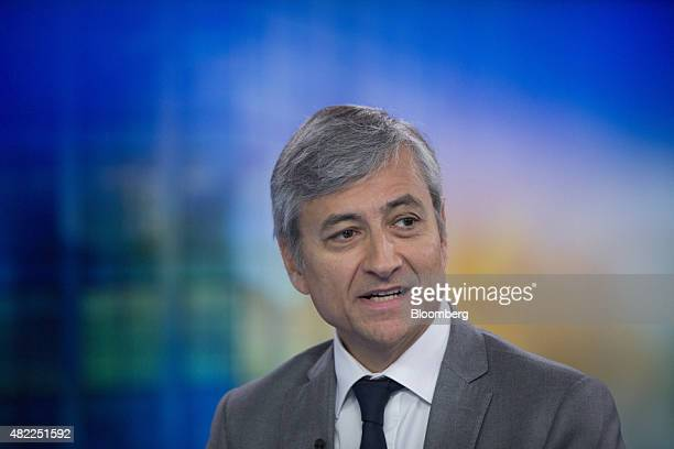 JeanPhilippe Courtois president of Microsoft International speaks during a Bloomberg Television interview in London UK on Wednesday July 29 2015 The...