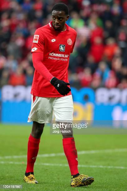 Jean-Philippe Mateta of Mainz during the Bundesliga match between 1. FSV Mainz 05 and SC Paderborn 07 at Opel Arena on February 29, 2020 in Mainz,...