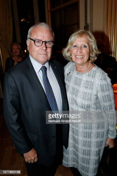 "Jean-Philippe Richard and his wife Evelyne Richard attend ""Le Cercle des Lettres - The Circle of Letters"" at Cercle de l'Union Interallie on December..."