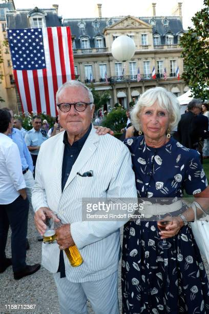Jean-Philippe Richard and his wife Evelyne Richard attend US Embassy celebrates America's 243rd Independence Day and 50th Anniversary of the First...