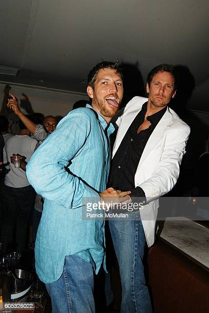 JeanPhillipe Lecourt and Desmond Reilly attend DJ Cassidy and Fonzworth Bentley Host BUNNY CHOW Sunday at CAIN Southampton Club on May 28 2006 in...