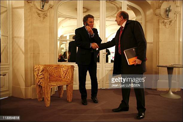 JeanPierre Bel Et Claudy Lebreton Give Segolene Royal Their Report Of The Territorial Democracy In Paris France On March 13 2007 Jack Lang and Gerard...