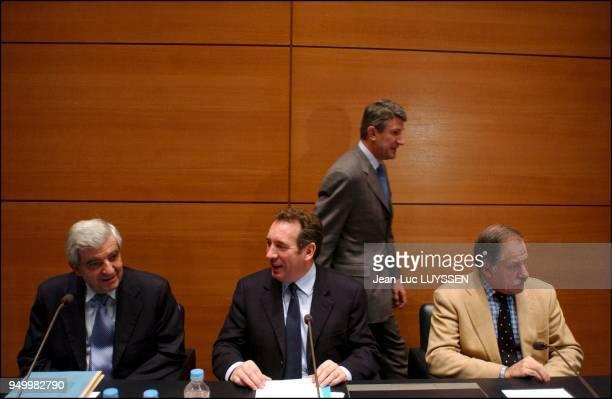 JeanPierre Chevenement Francois Bayrou Noel Mamere Philippe de ViIlliers