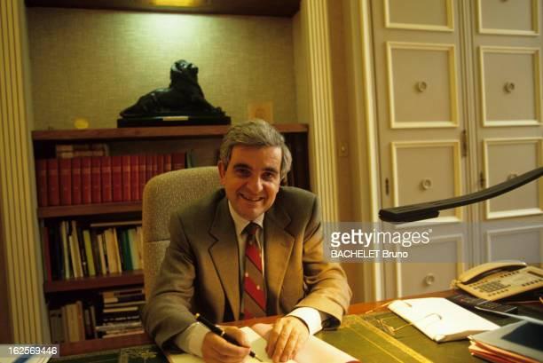 JeanPierre Chevenement Mayor Of Belfort A Belfort Jean Pierre CHEVENEMENT souriant assis à son bureau de la mairie de la ville