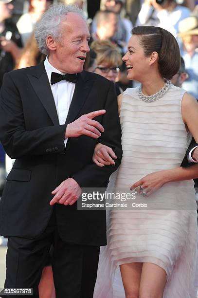 "Jean-Pierre Dardenne and Marion Cotillard and at the ""Deux Jours, Une Nuit"" Premiere during the 67th Cannes Film Festival"