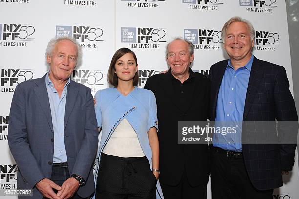 "Jean-Pierre Dardenne, Marion Cotillard, Luc Dardenne and producer attend ""Time Out Of Mind"" premiere during the 52nd New York Film Festival at Alice..."