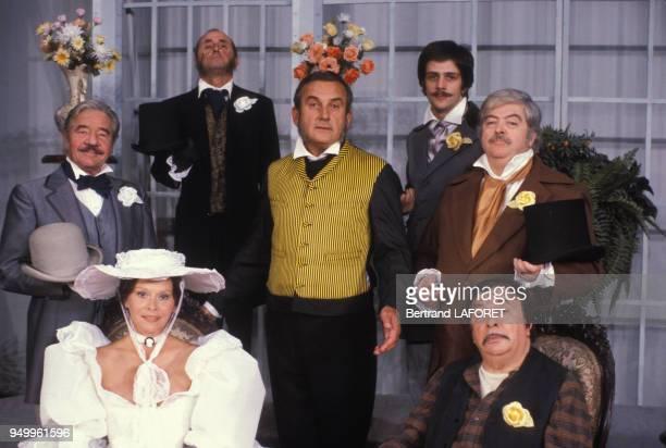 JeanPierre Darras Christiane Minazzoli et Daniel Ceccaldi dans la pièce 'Le Don Juan de la Creuse' le 12 septembre 1983 à Paris France