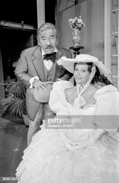 JeanPierre Darras et Christiane Minazzoli dans la pièce de théâtre 'Le Don Juan de la Creuse' à Paris en septembre 1983 France