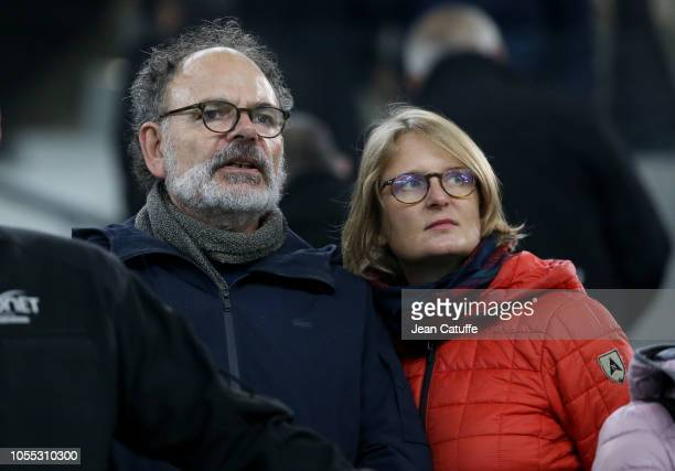 JeanPierre Darroussin and his wife Anna Novion attend the french Ligue 1 match between Olympique de Marseille and Paris SaintGermain at Stade...