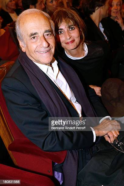JeanPierre Elkabbach and his Daughter Emmanuelle Bach attend 'Nina' Premiere at Theatre Edouard VII on September 16 2013 in Paris France