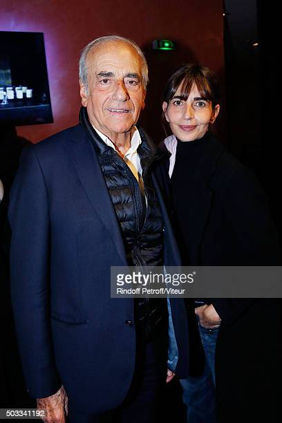 JeanPierre Elkabbach and his daughter Emmanuelle Bach attend the Laurent Gerra One Man Show at L'Olympia on December 30 2015 in Paris France