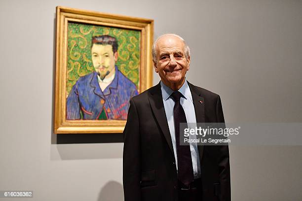 JeanPierre Elkabbach attends a Cocktail for the opening of 'Icones de l'Art Moderne La Collection Chtchoukine'at Fondation Louis Vuitton on October...