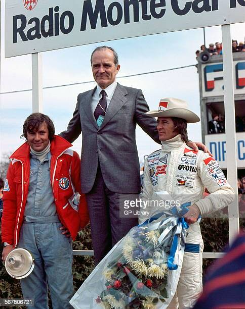 JeanPierre Jarier and Arturo Merzario winning in an Alfa Romeo T33 at the Dijon 500kms race France 1977