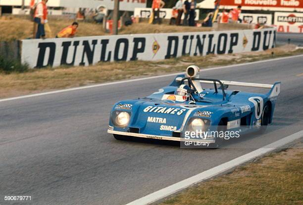 JeanPierre Jarier and JeanPierre Beltoise Matra Simca at the exit of Mulsanne Corner Le Mans 16th June 1974