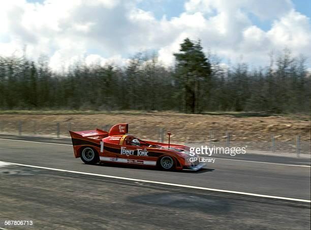 JeanPierre JarierArturo Merzario's Alfa Romeo T33 winning at the Dijon 500kms race France 1977