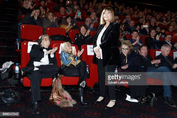 JeanPierre Leaud his wife singer Chantal Goya Marilou Berry Philippe Duquesne attend tribute to JeanPierre Leaud during Valenciennes Film Festival on...
